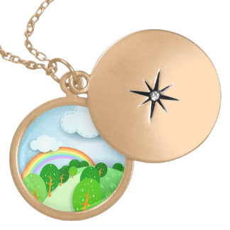 Fantasy landscape, necklace