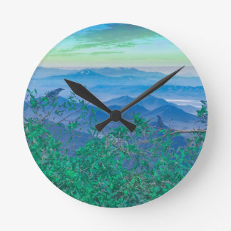 Fantasy Landscape Photo Collage Round Clock