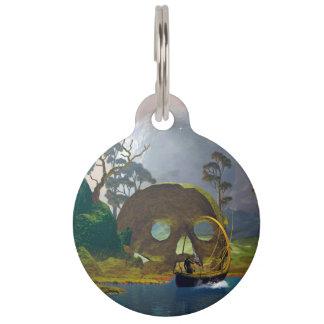 Fantasy landscape wiht lamp pet tag