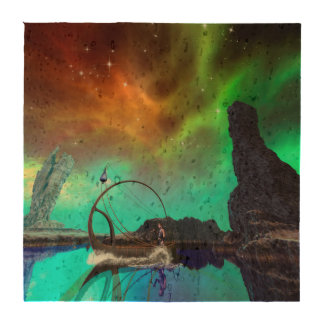 Fantasy landscape with awesome sky beverage coaster