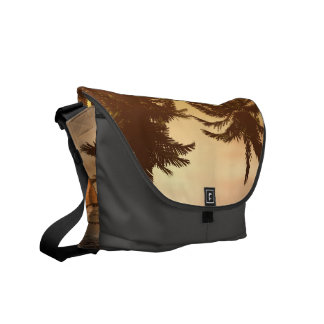 Fantasy landscape with beautiful sunset courier bag