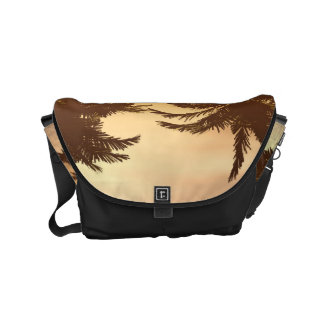 Fantasy landscape with beautiful sunset small messenger bag