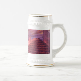 Fantasy landscape with fairy in a boat 18 oz beer stein