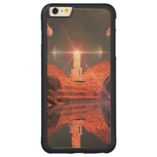 Fantasy landscape with light effects carved® maple iPhone 6 plus bumper case