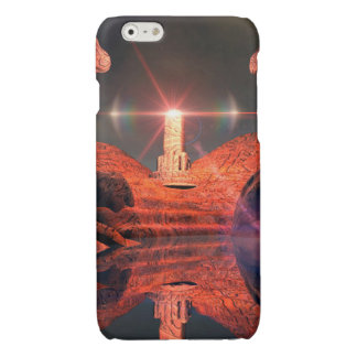 Fantasy landscape with light effects glossy iPhone 6 case