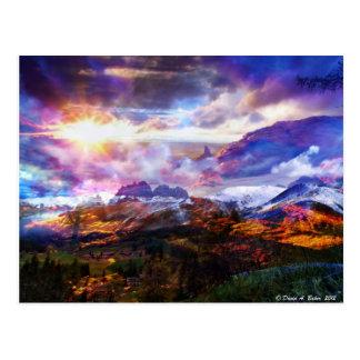 Fantasy landscrape postcard