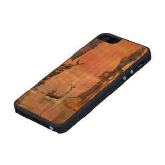 Fantasy lanscape with lamp boat carved® cherry iPhone 5 slim case