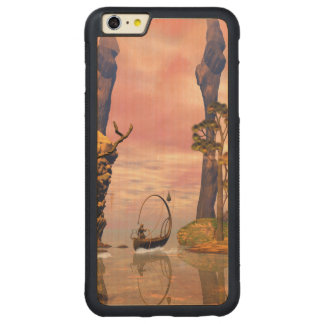 Fantasy lanscape with lamp boat carved® maple iPhone 6 plus bumper case