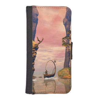 Fantasy lanscape with lamp phone wallet case