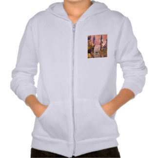 Fantasy lanscape with lamp hooded sweatshirt