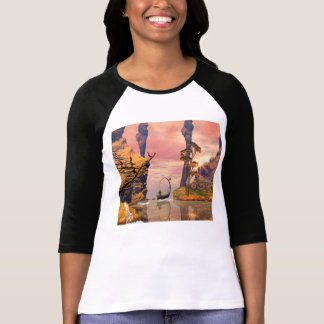 Fantasy lanscape with lamp t shirt