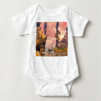 Fantasy lanscape with lamp t-shirts