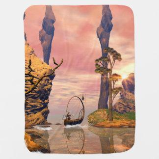 Fantasy lanscape with lamp stroller blankets