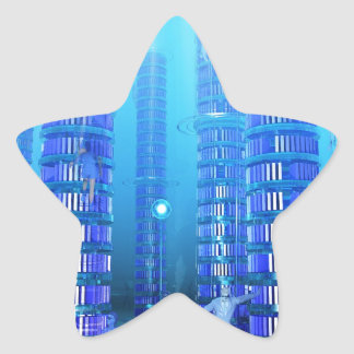 Fantasy Library Star Sticker