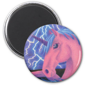 Fantasy Lightning Unicorn Magnet