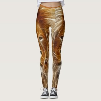 Fantasy Lion Head Custom Leggings
