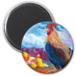 Fantasy Make Believe Chickens and Candy Corn Magnet