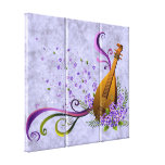 Fantasy Mandolin Music  3 Panel Gallery Wrapped Canvas