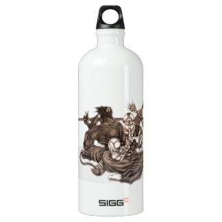 Fantasy Manga Warriors Aluminum Water Bottle