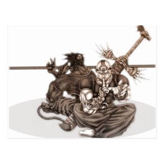 Fantasy Manga Warriors Postcard