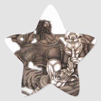 Fantasy Manga Warriors Sticker