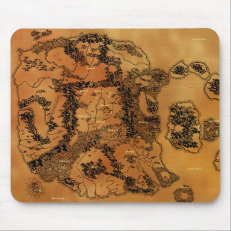 Fantasy map mouse pad