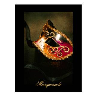 Fantasy Masquerade Mask Elegant Fine Art Postcard