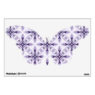 Fantasy Medium Purple Fractal Art Butterfly Wall Decor
