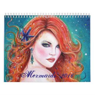 Fantasy mermaid calender 2016 by Renee Lavoie Calendar
