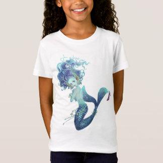 Fantasy Mermaid Girls Baby Doll T-shirt