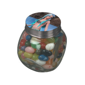 Fantasy Mermaid Glass Candy Jars