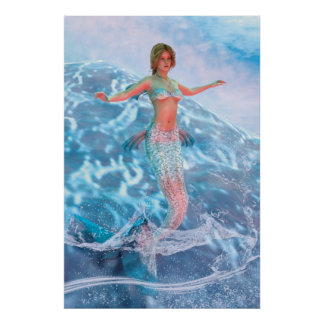 Fantasy Mermaid Poster