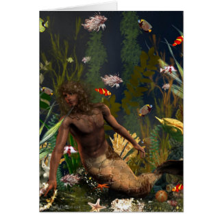 Fantasy Merman Notecard