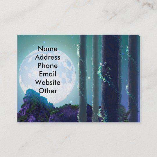 Fantasy moon business cards zazzle fantasy moon business cards colourmoves