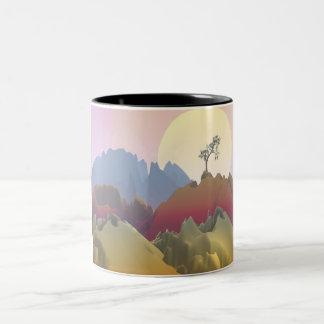 Fantasy Mountain Two-Tone Coffee Mug