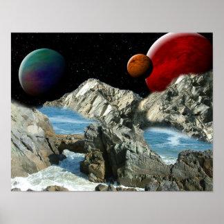 Fantasy Ocean world Poster