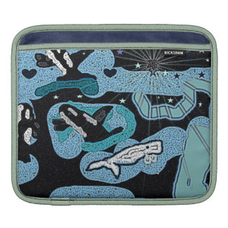 Fantasy of Whales Unique Ipad sleeve/cover