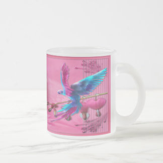 Fantasy Parrot - Frosted Glass Mug