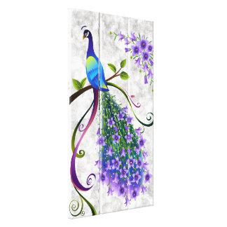 Fantasy Peacock  3 Panel Canvas Print