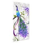 Fantasy Peacock  3 Panel Gallery Wrapped Canvas