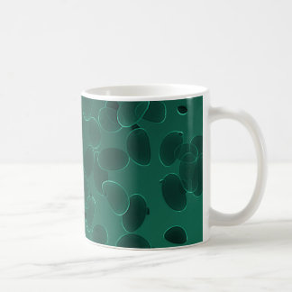 Fantasy Pebbles in Dark Green Coffee Mug
