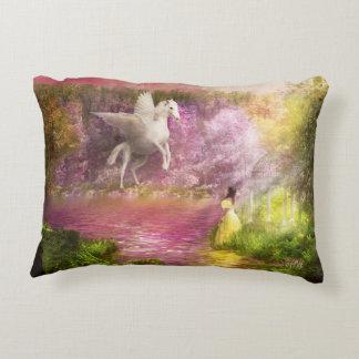 Fantasy - Pegasus - The enchanted garden Accent Pillow