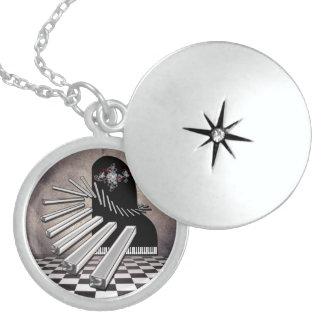 Fantasy Piano Sterling Silver Locket Necklace