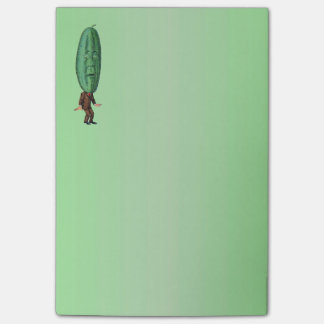Fantasy Pickle Man Brown Suit Post-it Notes