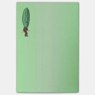 Fantasy Pickle Man Brown Suit Post-it® Notes