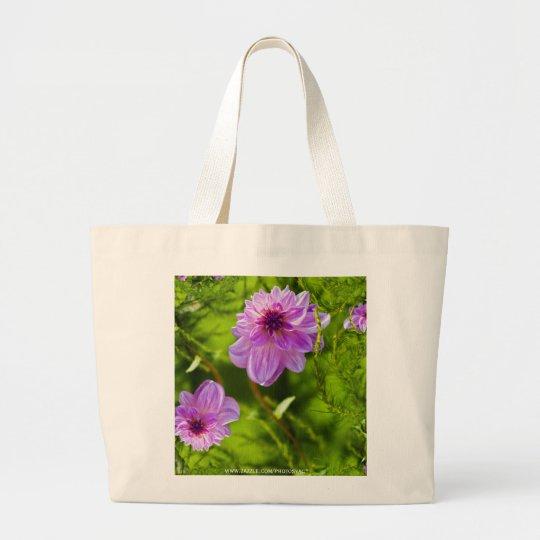 Fantasy Pink Dahlia Large Tote Bag