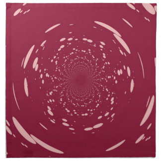 Fantasy Pink Dots Abstract Retro Art Deco Cloth Napkin