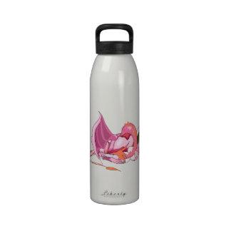Fantasy Pink Dragon png Reusable Water Bottle