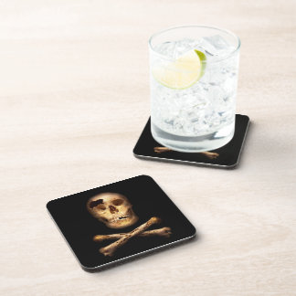Fantasy - Pirate Flag - I'm a mighty pirate Beverage Coaster