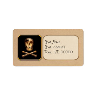 Fantasy - Pirate Flag - I'm a mighty pirate Personalized Address Label